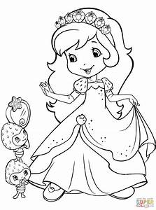Strawberry Shortcake And Berrykins Coloring Page Free