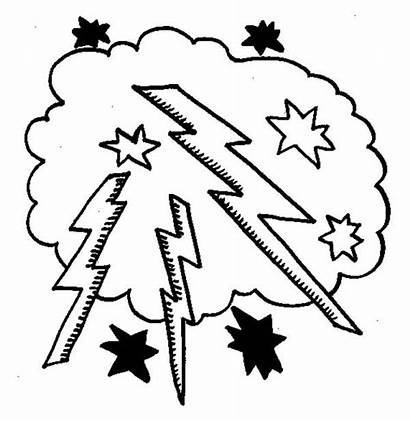 Lightning Bolt Coloring Pages Lighting Cloud Drawing