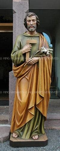 St-Joseph - New Hand Carved Marble, Wood, or Bronze Statue