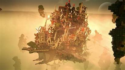 Floating Steampunk Minecraft Map Animated Funny Cloud