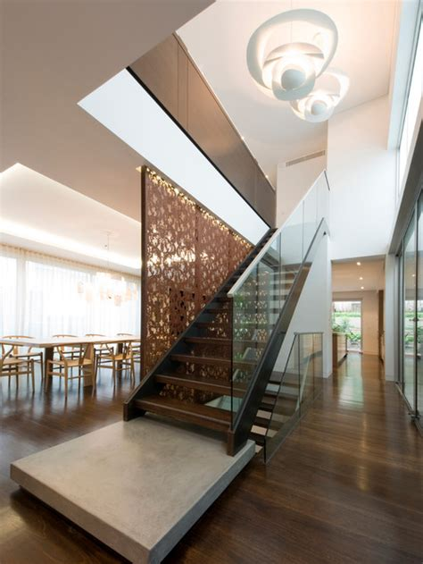modern staircase landing decorating ideas   inspired