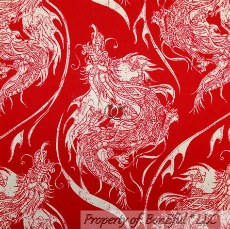 boneful fabric fq cotton quilt red white large asian