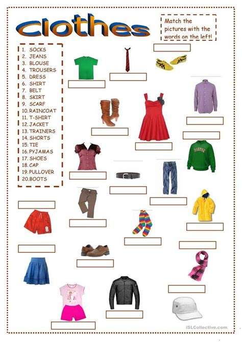 worksheets esl clothes clothes worksheet free esl printable worksheets made by
