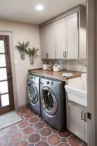 best flooring for a laundry room the flooring blog With kitchen colors with white cabinets with utility room wall art