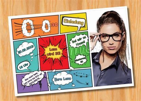 ausgefallene fotokarten geburtstag einladungskarten comic