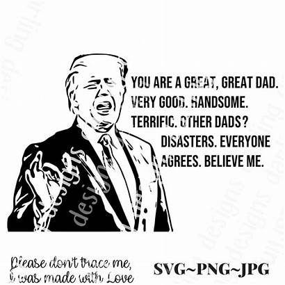 Svg Trump Donald Father Fathers Silhouette Dad