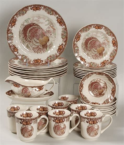 thanksgiving china sets johnson brothers autumn monarch 34 piece set replacements ltd