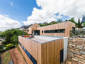 maison ossature bois avec toit terrasse boismaison With maison bois toit terrasse