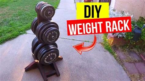 diy weight plate rack cheap easy jonny diy youtube