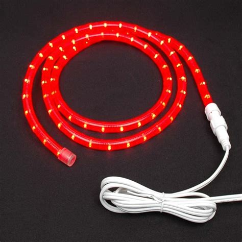 red custom chasing rope light kit 120v 3 wire novelty lights