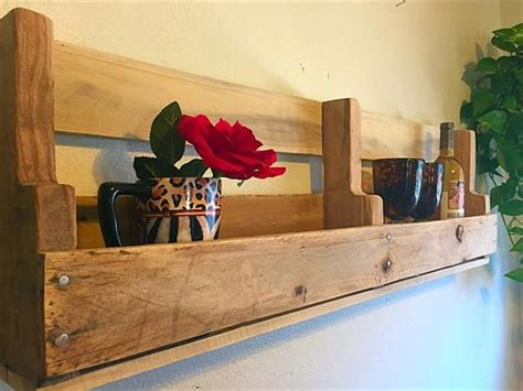 diy pallet wall decorative shelf pallet furniture plans