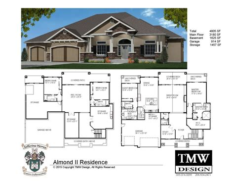 This means that the house is only one floor. House Plans with Daylight Basements Elegant Rambler ...