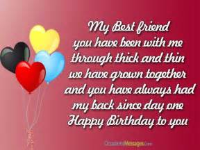 Best Friend Birthday Wishes Messages