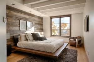 Simple Bedroom Decorating Ideas Simple Bedroom Ideas With White Wooden Beam Ceiling And Rustic Hardwood Wall Decor Lestnic