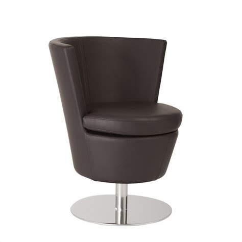 eurostyle squire faux leather swivel chair in brown