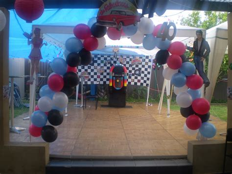 marvelous grease party decorations  grease theme party