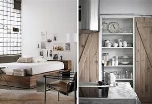 Deco Chambre Bois : deco bois et blanc l 39 habis ~ Melissatoandfro.com Idées de Décoration