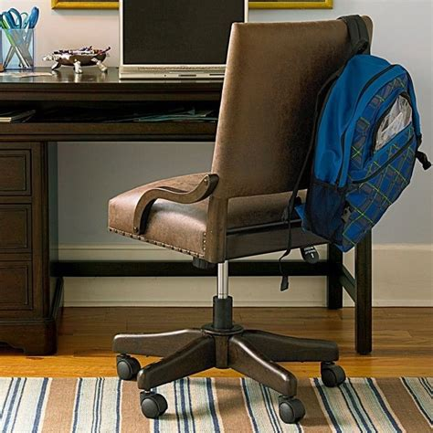 smartstuff paula deen guys leather henry s desk chair in