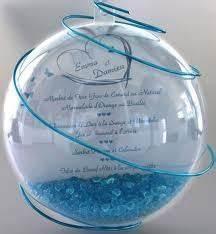 Plan De Table Boule Transparente Menu Ou Cadeau Invit