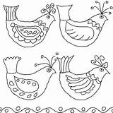 Folk Bird Embroidery Drawings Mexican Birds Queeky Coloring Pages Drawing Patterns Flowers Template Flower Bark Hungarian Pattern Draw Minniemouse Google sketch template