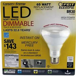 Feit watt br led dimmable flood light bulb equiv to