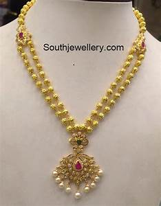 32 Grams Antique Gold Necklace - Jewellery Designs