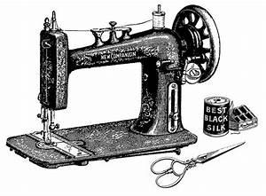 Nightbird Graphics: Vintage Sewing Machine, Scissors and ...