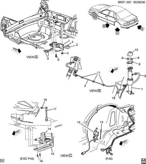 1996 Cadillac Rear Suspension Diagram by Cadillac F55 Suspension