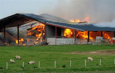 Barn Fires by Firefighters To Barn Near Inverness