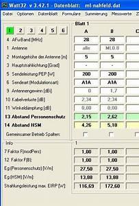 Watt Berechnen Formel : ergebnisse von nahfeldberechnungen ~ Themetempest.com Abrechnung