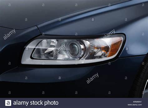 2008 volvo s40 2 4i in blue headlight stock photo