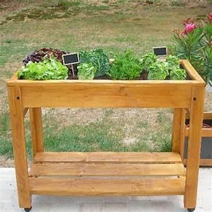 Mini Potager En Bois : table potager sur lev e en bois ~ Premium-room.com Idées de Décoration