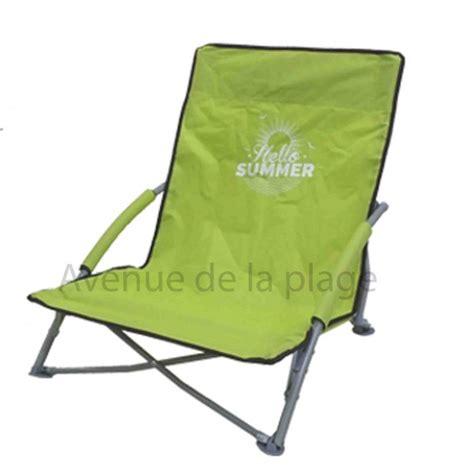 siege plage pliant siège de plage bas pliant hello summer pas cher chaise de