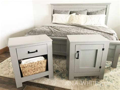 Farmhouse Nightstand by White Cabinet Style Farmhouse Nightstand With Door