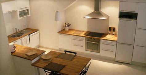 plan de travail cuisine 4m cuisine blanche avec plan de travail bois cuisine by