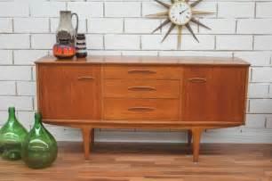 vintage retro teak sideboard buffet tv unit danish