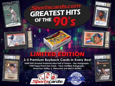 Best baseball cards of the 90s. *RARE BUYBACK* 2019 GREATEST HITS OF THE 90'S BASEBALL 10 BOX CASE BREAK SPECIAL - RANDOM HIT ...