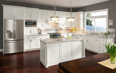 Cottage Painted Linen Cabinets  Transitional  Kitchen