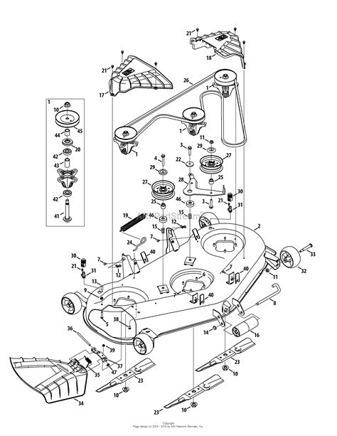 Troy Bilt Bronco Deck Belt by Troy Bilt 13wqa2kq011 Bronco 50 2015 Parts Diagram