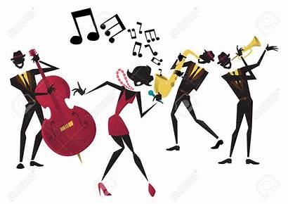Jazz Band Clipart Abstract Singer Performance Illustration