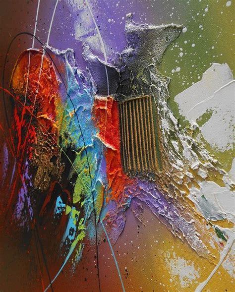 tableau abstrait contemporain kaitos peinture acrylique toile en relief noir violet marron