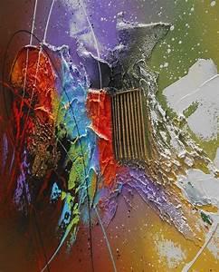 Tableau En Relief : tableau abstrait contemporain kaitos peinture acrylique ~ Melissatoandfro.com Idées de Décoration