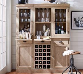 Modular Bar With Cabinet Tower by Modular Bar With Wine Grid Tower Pottery Barn