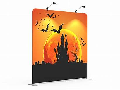 8x8 Banner Backdrop Halloween Stand Fabric Tension