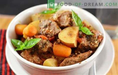 Sautēti kartupeļi ar gaļu: soli pa solim mājās gatavotu ...