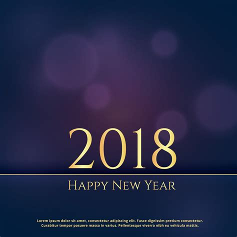 New Year Wishes Backgrounds by Premium 2018 New Year Greeting Card Design