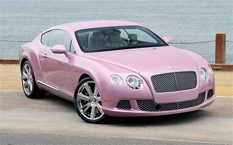 Bentley Car : Pretty In Pink? Bentley Continental Gt Dolled Up For Charity