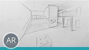Perspektive Zeichnen Raum : einfach perspektivisch zeichnen lernen zwei punkt perspektive in der bewerbungsmappe ~ Orissabook.com Haus und Dekorationen