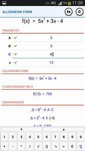 Schnittpunkt Berechnen Quadratische Funktion : nan quadratische funktion android apps auf google play ~ Themetempest.com Abrechnung