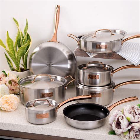 fleischer  wolf london tri ply  piece cookware set ebay